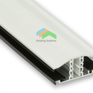 4.0m PVC Capped Exitex Snap Down Bar with Aluminium Base for 10mm, 16mm & 25mm Polycarbonate