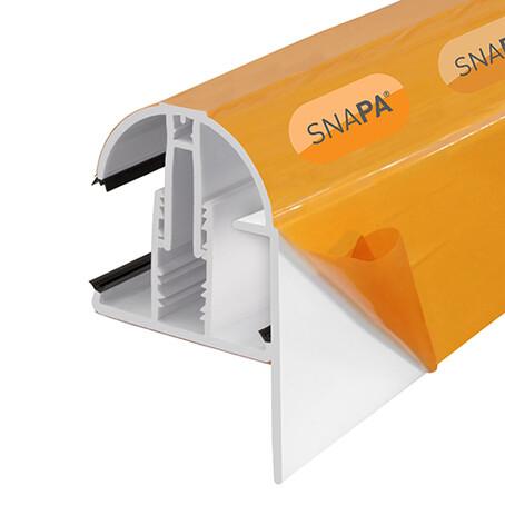 5.0m PVC Capped Snap Fix Gable End Glazing Bar White