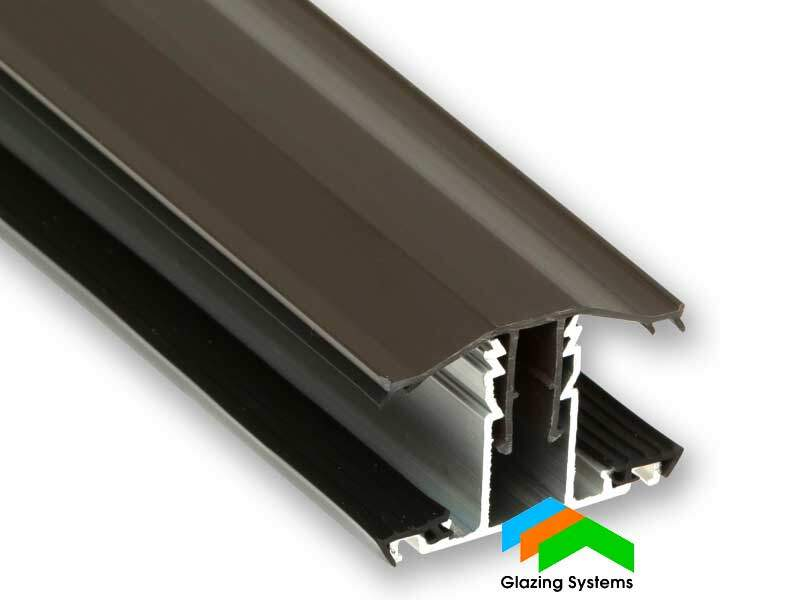 Brown Rafter Supported Snap down Glazing Bar for Polycarbonate Sheet