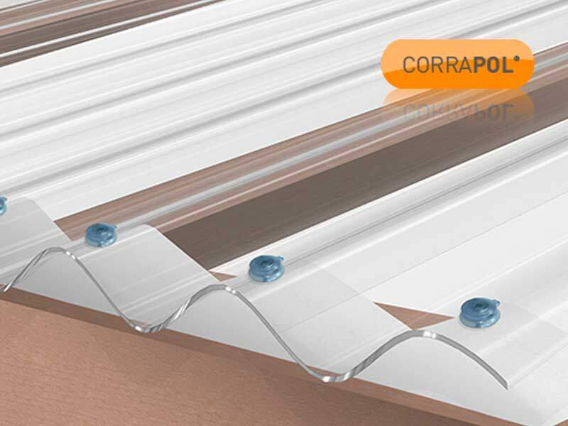 Corrugated Polycarbonate Sheet 950 x 3000 Clear HIGH PROFILE Stormproof