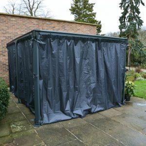 Milano 4300 Freestanding Veranda Curtain Set