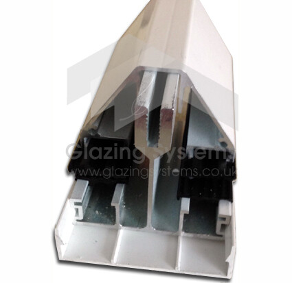 4.0m Self Supporting Glazing Bar for Single or Double Glazing incl end cap (available in any colour)