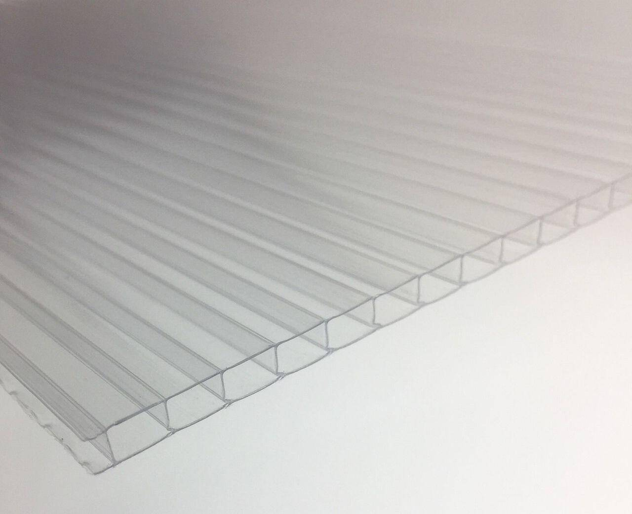 Pack of 10 4mm twinwall polycarbonate replacement greenhouse glazing panels 610mm x 1220mm
