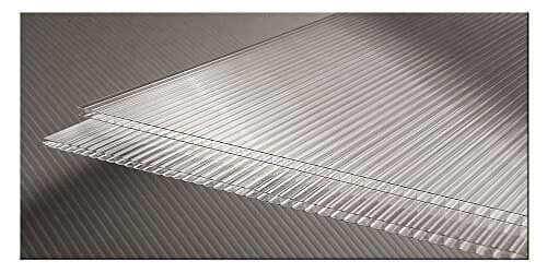Pack of 10 4mm twinwall polycarbonate replacement greenhouse glazing panels 610mm x 1220mm (2ft x 4ft)