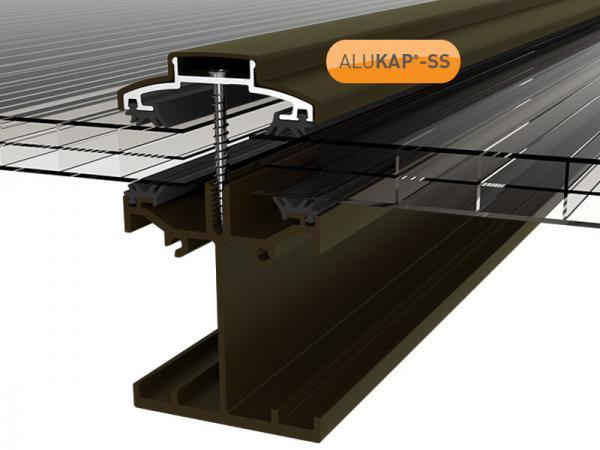 4.8m Self Supporting Glazing Bar for Glass or Polycarbonate Sheet Any Thickness Alukap SS