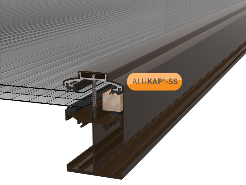 3.0m Self Supporting Gable End Bar for Glass or Polycarbonate Sheet (available in any colour)
