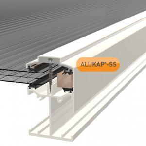 4.8m Self Supporting Gable End Bar for Glass or Polycarbonate Sheet (available in any colour)