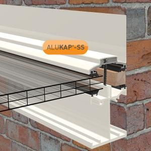 6.0m Self Supporting Wall End Bar for for Glass or  Polycarbonate Sheet (available in any colour)