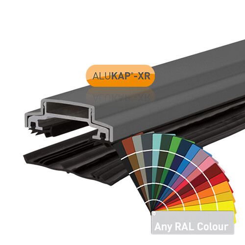 45mm Wide 3.6m Alukap XR Aluminium Rafter Supported Glazing Bar incl end caps (available in any colour)