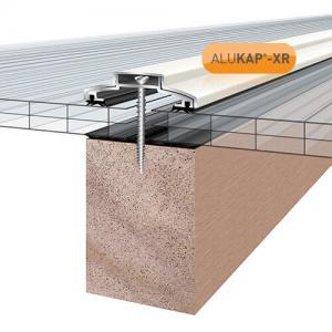 60mm Wide 3.6m Alukap XR Aluminium Rafter Supported Glazing Bar incl end caps (available in any colour)