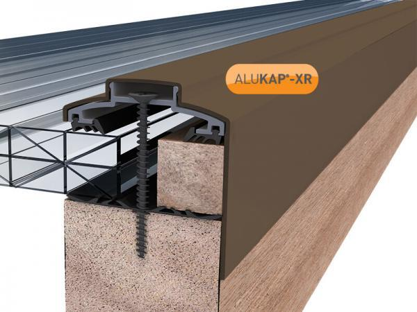 60mm Wide 3.6m Alukap XR Aluminium Rafter Supported Gable Bar incl end caps (available in any colour)