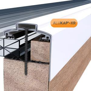 60mm Wide 4.8m Alukap XR Aluminium Rafter Supported Gable Bar incl end caps (available in any colour)