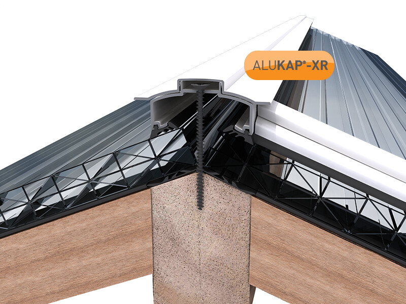 45mm Wide 3.6m Alukap XR Aluminium Rafter Supported Hip Bar