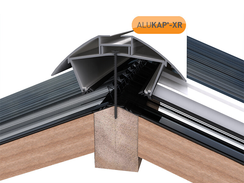 3.0m Alukap XR Aluminium Rafter Supported Ridge Bar