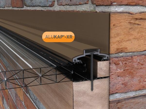 60mm Wide 6.0m Alukap XR Aluminium Rafter Supported Wall Bar incl end caps (available in any colour)