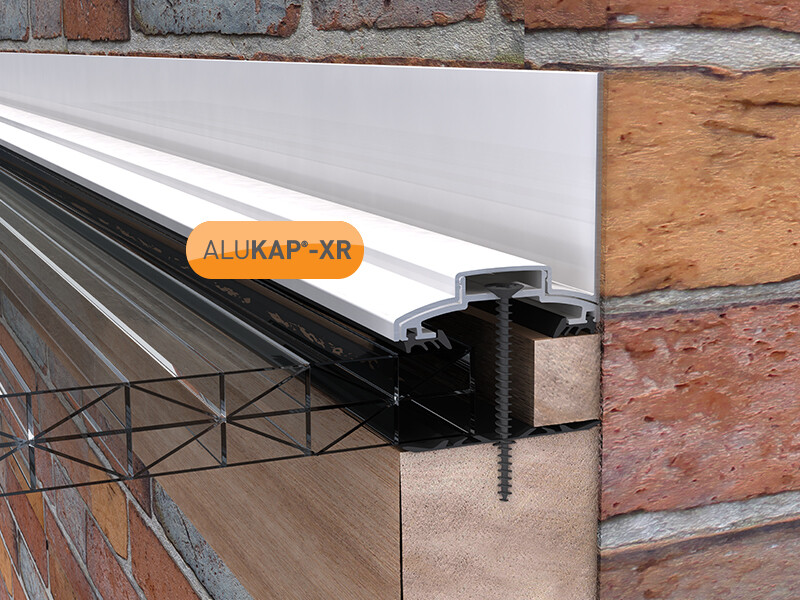 60mm Wide 3.0m Alukap XR Aluminium Rafter Supported Wall Bar incl end caps (available in any colour)