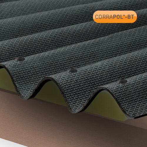 Corrugated Black Bitumen Sheet 930 x 2000 HIGH PROFILE