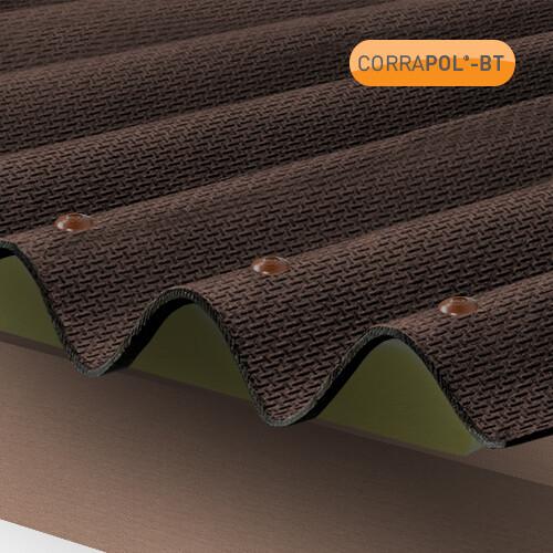 Corrugated Brown Bitumen Sheet 930 x 2000 HIGH PROFILE