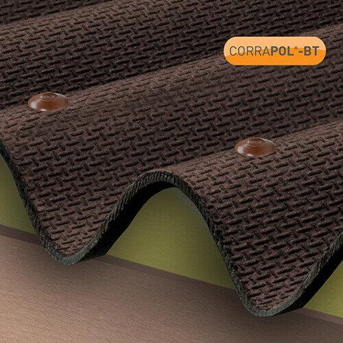 Brown Corrugated Bitumen Fixings 100pk