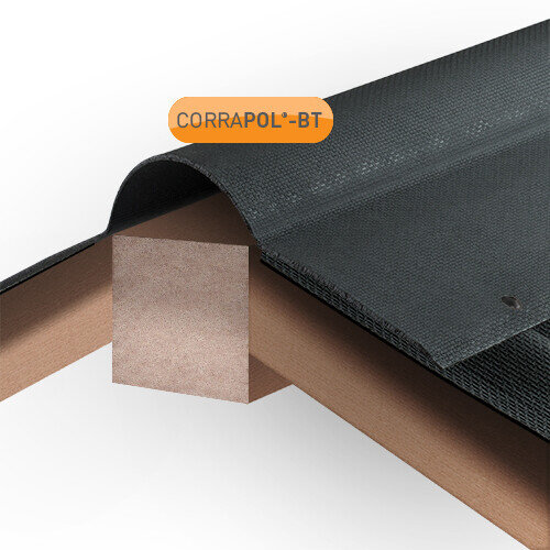Black Corrugated Bitumen Ridge 930mm
