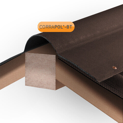 Brown Corrugated Bitumen Ridge 930mm x 1000mm