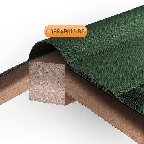 Green Corrugated Bitumen Ridge 930mm x 1000mm