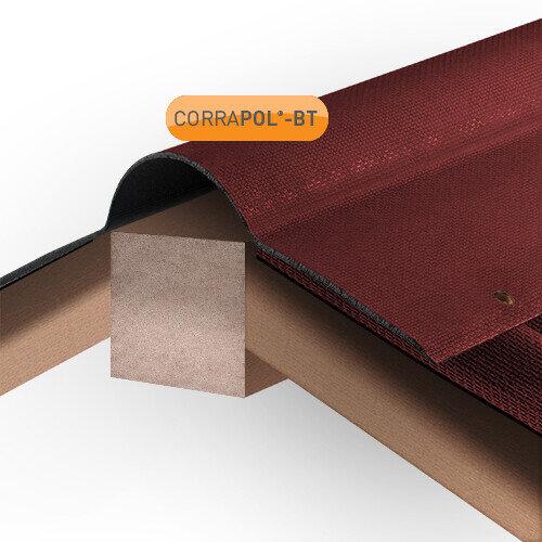 Red Corrugated Bitumen Ridge 930mm x 1000mm