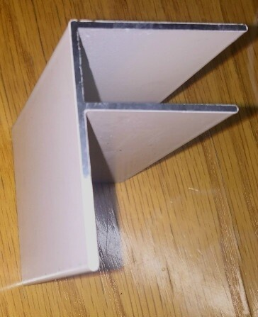 4.0m F Section for 6mm Glazing (available in any colour)
