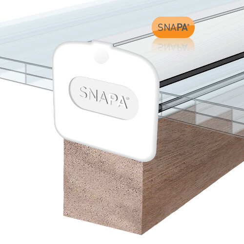 6.0m PVC Capped Snap Fix Glazing Bar White