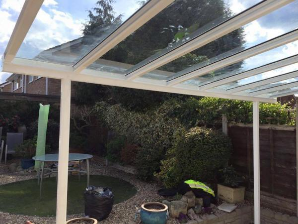 Up to 6.0m Wide 6mm Glass Patio Cover & Veranda. (Select Projection)