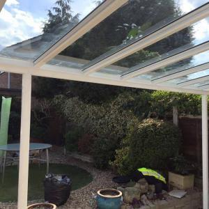 7.0m Wide 6mm Glass Carport, Patio Cover, Veranda (Select Projection)
