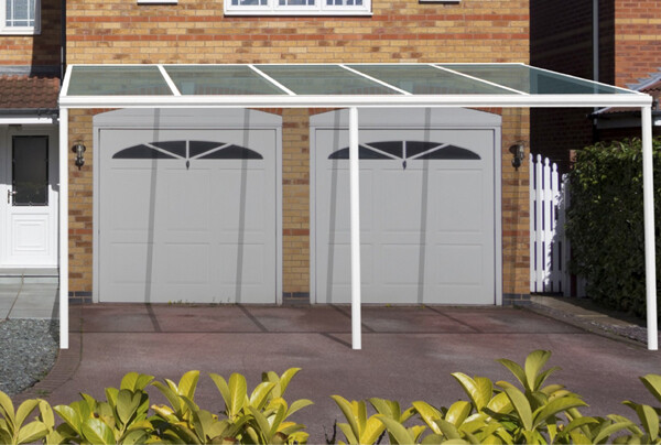 4.0m Wide 6mm Glass Patio Cover & Veranda. (Select Projection)
