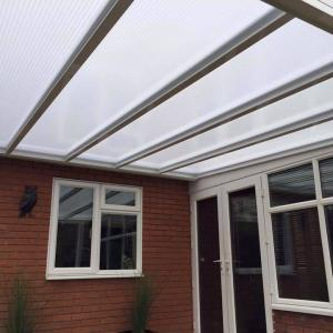 5.5m Wide 16mm Polycarbonate Roof Canopy System