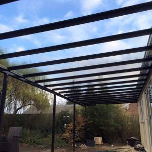6.0m Wide 6mm Glass Carport, Patio Cover, Veranda (Select Projection)