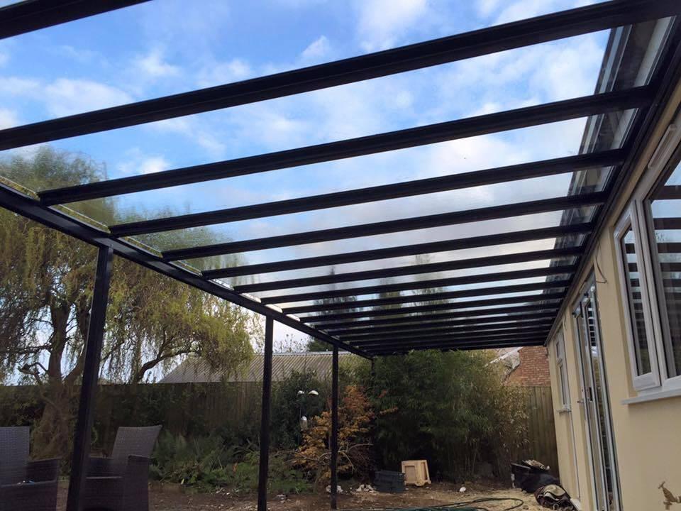 6.0m Wide 6mm Glass Carport, Patio Cover, Veranda (Select Projection)