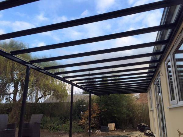 7.0m Wide 6mm Glass Carport, Patio Cover, Veranda (Select Projection)
