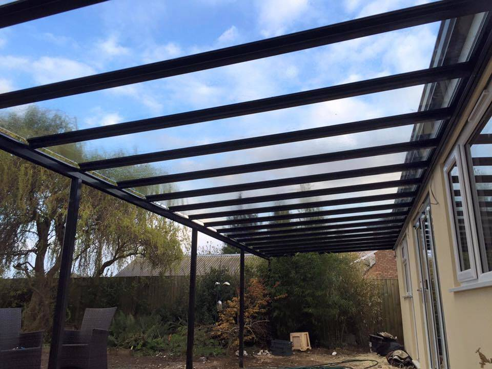 4 0m Wide Glass Canopy Amp Carport System