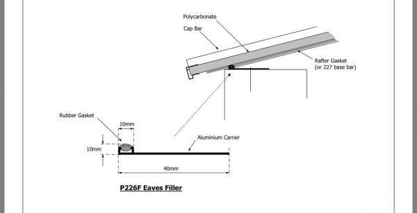 4.0m Eaves Filler for Rafter Supported Bar