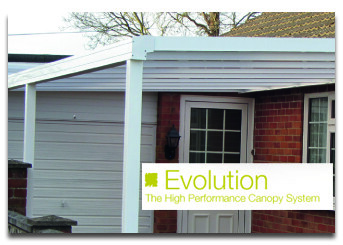 Up to 4.0m Length EVOLUTION 16mm Polycarbonate Roof Canopy System
