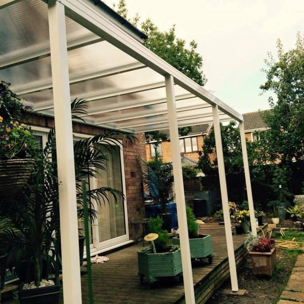 4.0m Wide 16mm Polycarbonate Roof Canopy System