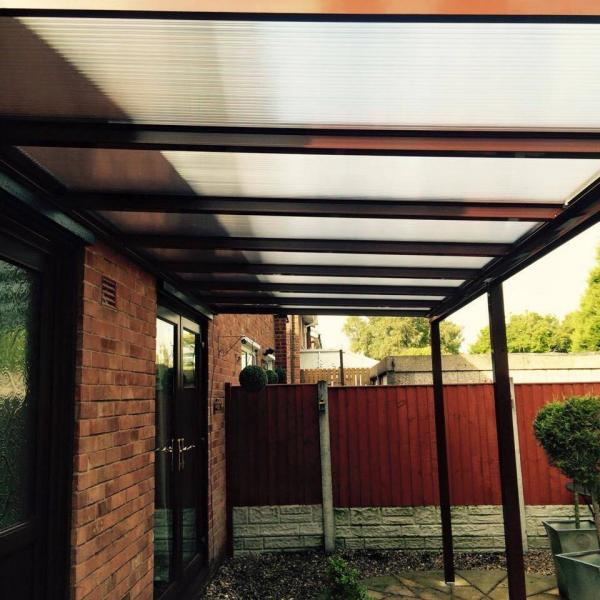 6.0m Wide EVOLUTION 16mm Polycarbonate Roof Canopy System