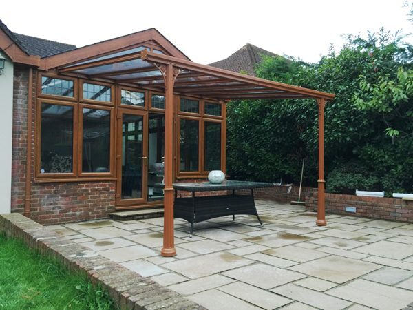 7.0m Wide 6mm Glass Victorian Styled Carport, Patio Cover, Veranda (Select Projection)