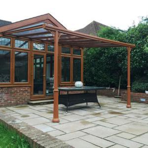 3.0m Wide 6mm Glass Patio Cover & Veranda. (Select Projection)