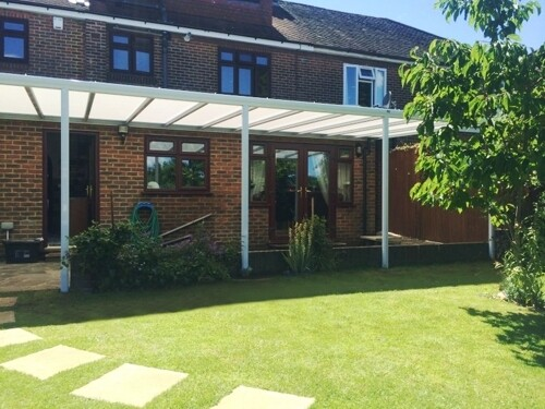 3.0m Wide EVOLUTION 16mm Polycarbonate Roof Canopy System